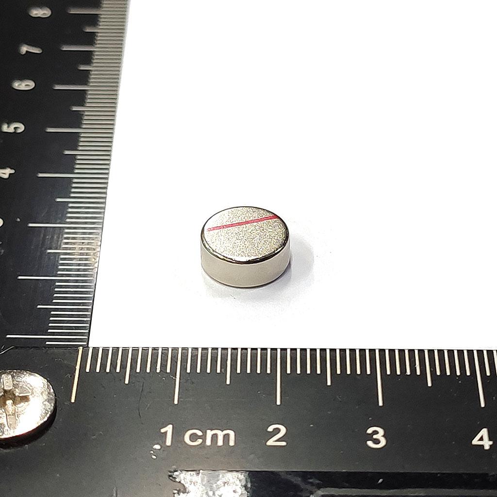 超強釹鐵硼磁鐵-D10x4-ND45H-N記號