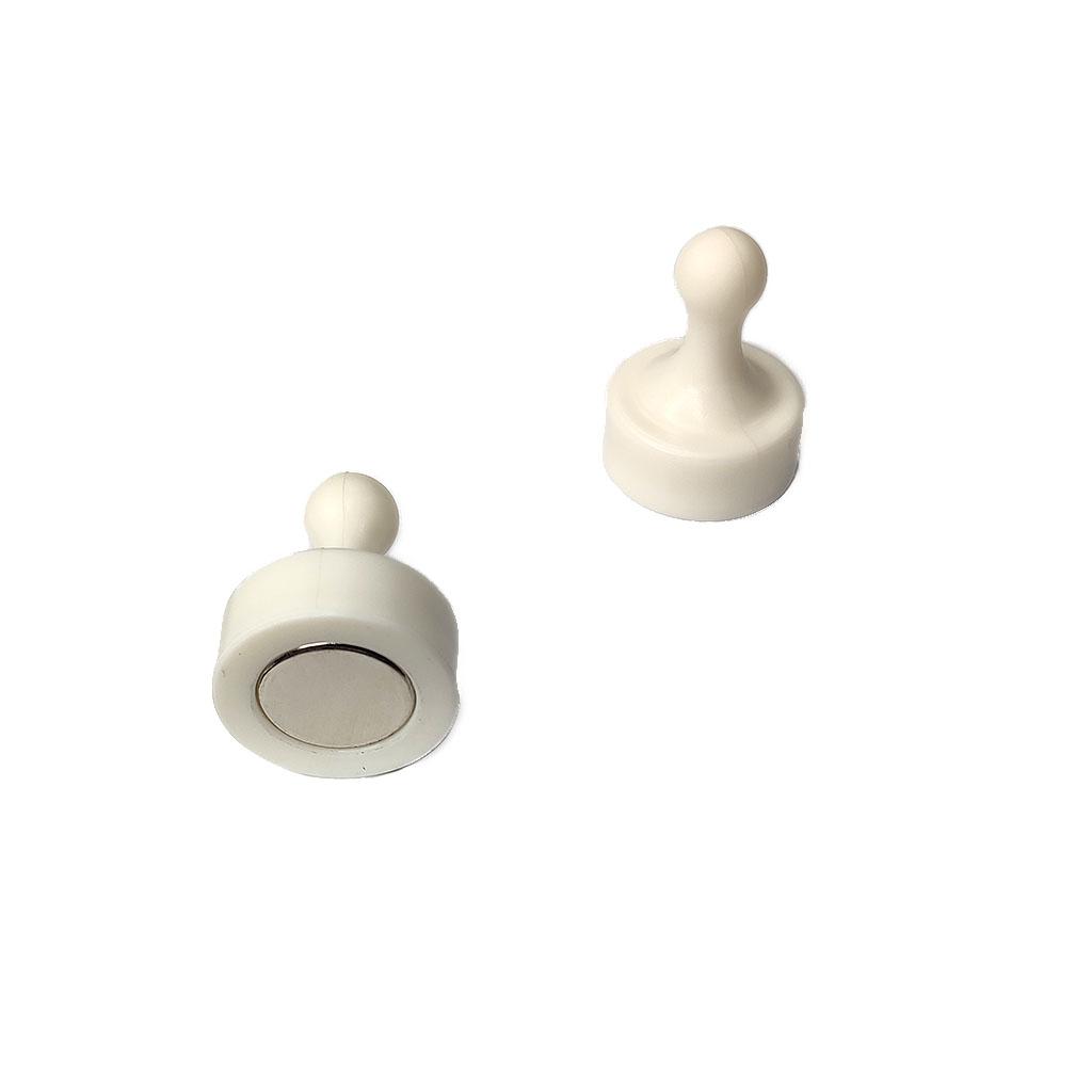 強力型白板磁鐵-D29x38mmT_白色_NG吸附時有聲響