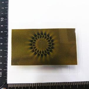 磁波卡/磁極卡/磁顯片/磁顯觀察片/磁力觀察片-量測顯示此為輻射充磁
