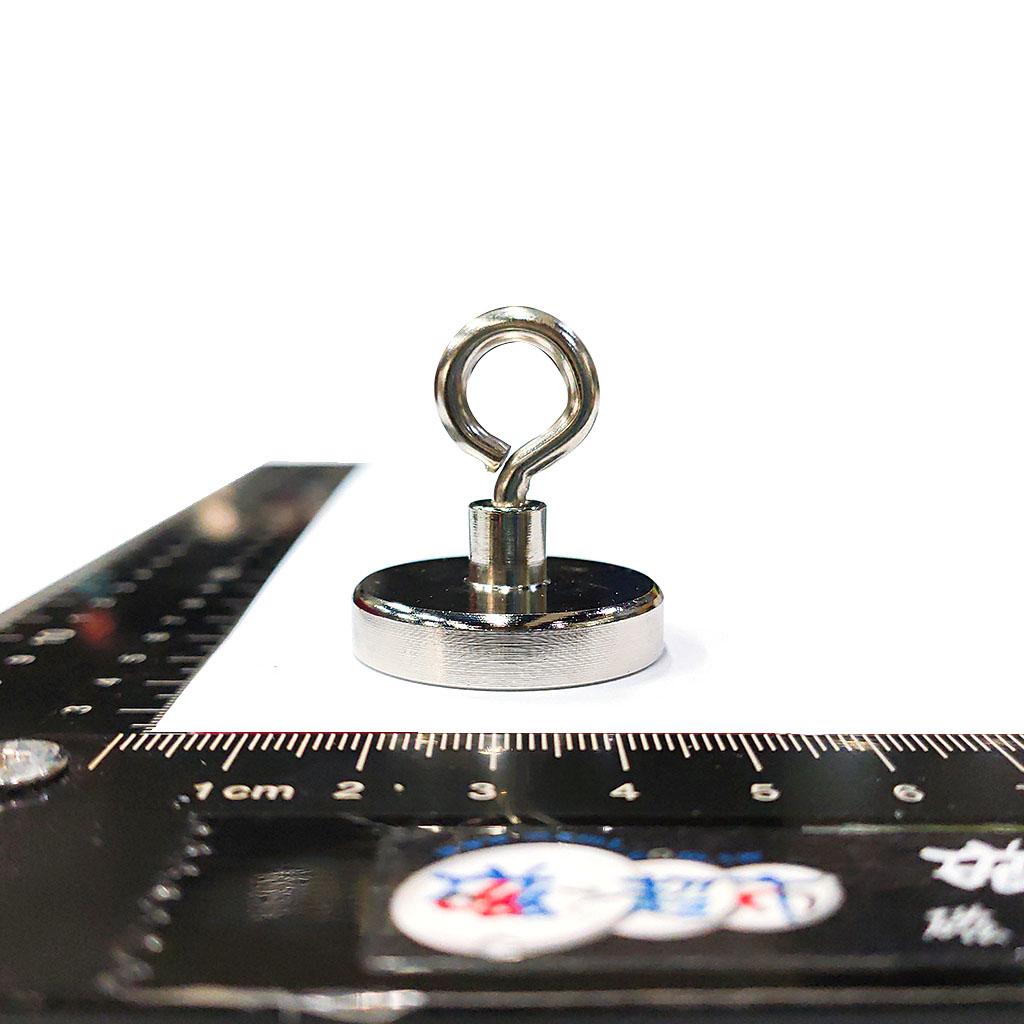 磁性吸座-鐵殼D116x20(M12螺牙孔)+釹鐵硼磁鐵ND35+M12吊環(OD47xID29)